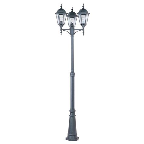 Patio Pole Lights Maxim Lighting Poles Outdoor Pole Post Mount 1105bk The Home Depot