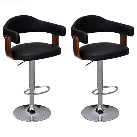 Stool With Backrest by 2 Pcs Bentwood Bar Stool With Backrest Armrest Height