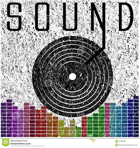 Digital Poster Esound Poster sound graphic poster t shirt graphic design stock