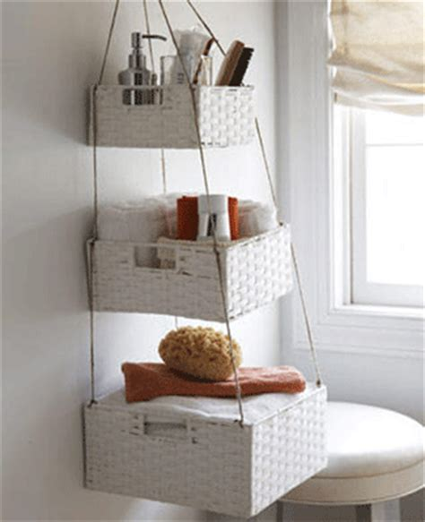 Bathroom Shelves Made Of White Wicker Baskets Creative Creative Storage Solutions For Small Bathrooms