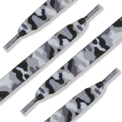 Camo Shoelaces shoe string king 36 quot 91 cm flat designer shoelaces gray camo