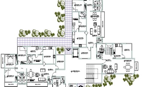 landscaping with structural layout plan of residential