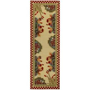 rugnur cucina rooster checkered cream red kitchen area rug