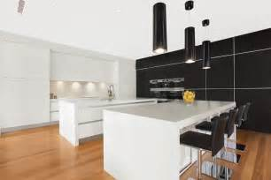 Modern Island Kitchen by Modern Island Kitchen Design Using Floorboards Kitchen