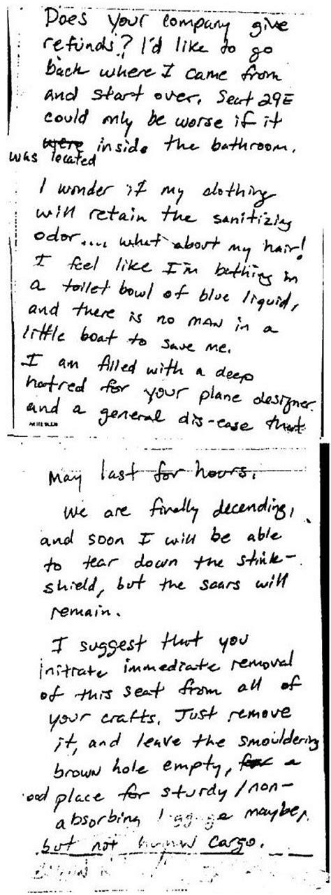 Airline Complaint Letter Seat 29e Pdf Passenger S Complaint Letter