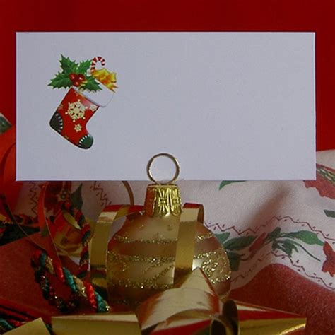 10 ideas for christmas place card holders the bright christmas festive place name cards wedding office for card