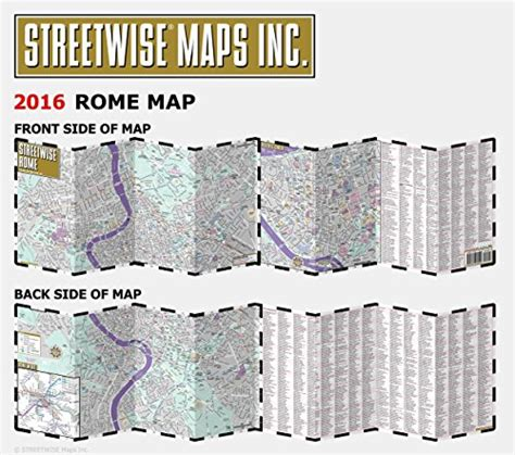streetwise rome map laminated city center map of rome italy michelin streetwise maps books streetwise rome map laminated city center map of