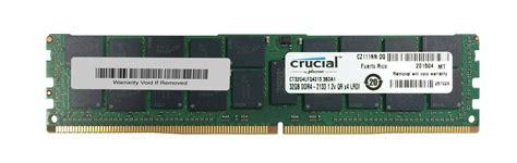 Memory Server Ibm 32gb 4drx4 2133mhz Pc4 17000 Lrdimm Ecc 46w0800 ct32g4lfq4213 crucial 32gb ddr4 pc17000 memory