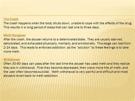 Meth Detox Stages by What Is Methhetamine What Is Meth Ppt