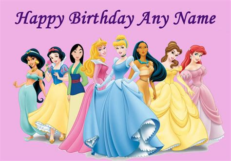 Happy Birthday Princess Card Template by 7 Best Images Of Happy Birthday Disney Printable Cards