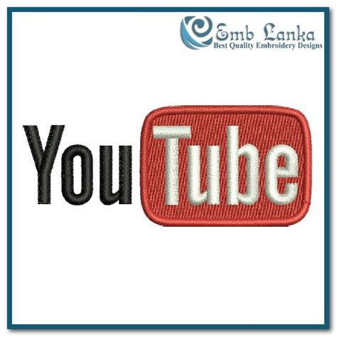 Embroidery Design Youtube | youtube logo embroidery design emblanka com