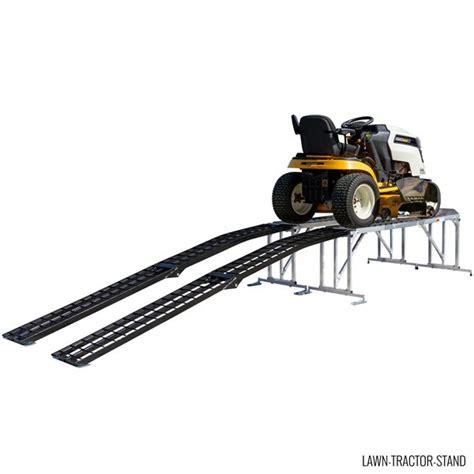 lawn tractor service work stand  mowers  decks