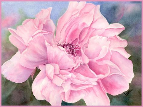 watercolor tutorial peony tutorial painting of quot peony quot how to paint watercolor