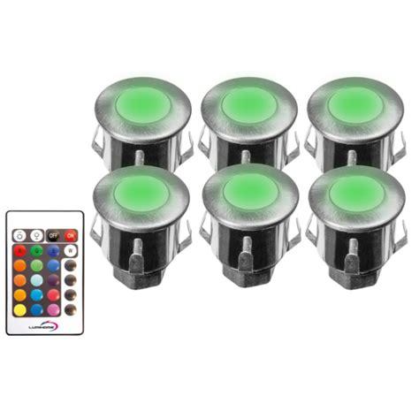 eclairage miniature spot terrasse piscine rgb 12v led ip67 kit de 6 spot led rgb