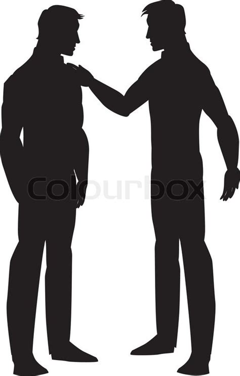 Wedding Argument Box by Silhouette Of Two Talking Illustration Stock Vector