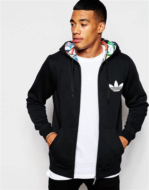 Sweater Adidashoodie Adidas Keren adidas originals hoodie with label print lining ab7690 in black for lyst