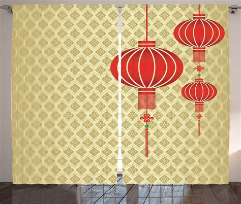 curtains 2 panels set lantern baroque artsy home
