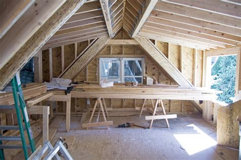 framing shed dormer driveway side bedroom