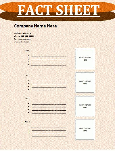 fact sheet template fact sheet template sheet templates