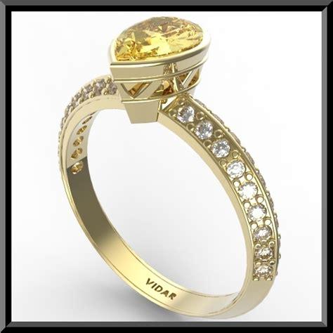 yellow citrine engagement ring vidar jewelry unique