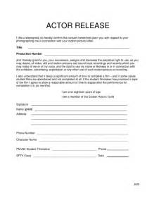Simple Photo Release Form Template by Simple Actor Release Form Free