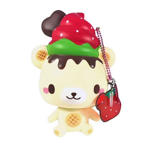 Squishy Strawberry By Yummiibear yummiibear strawberry squishy kawaii panda