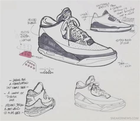 layout editor tutorial jordan bisasky tinker hatfield jordan iii concepts sketches pinterest