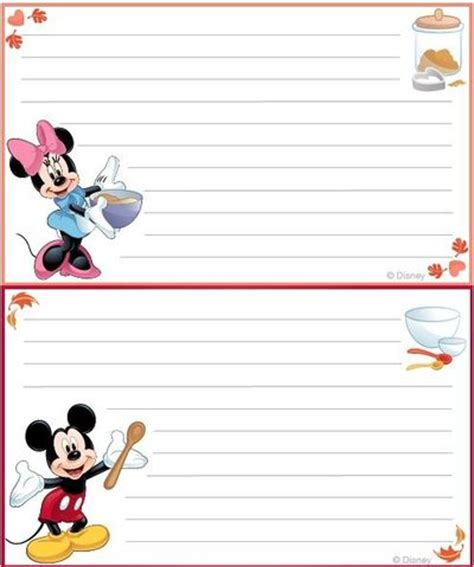 printable disney recipes 7 best images of disney cute printable love cards free
