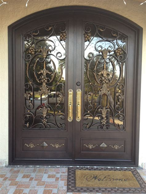 Metal Front Doors With Glass Why Choose Wrought Iron Doors For Their Home