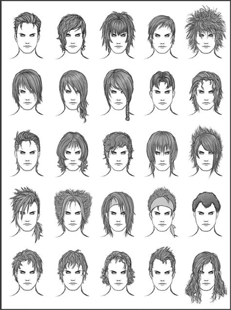 cartoon hairstyles male men s hair set 9 by dark sheikah on deviantart