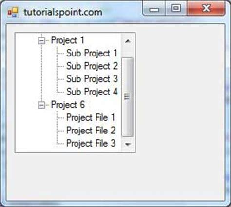 tutorialspoint vb 6 0 vb net treeview control