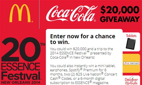 Mcdonalds Instant Win Prizes - coca cola mcdonald s sweepstakes instant win game over 1200 high value prizes