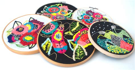 biele graphics katy biele embroideries inspired by her illustrations