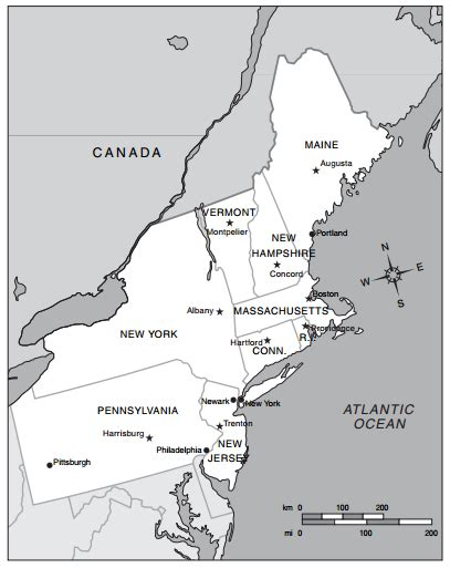 map of the northeast region states and capitals us northeast region map with capitals www imgkid