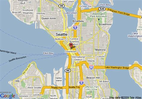 seattle map with hotels map of w seattle hotel seattle