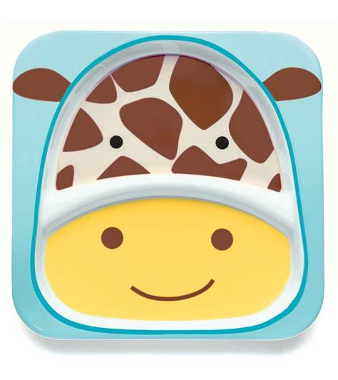 skip hop zoo divided plate in giraffe