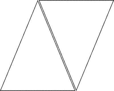 printable triangle banner template cakepinscom triangle