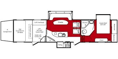 fuzion floor plans 2009 keystone fuzion 403 trailer reviews prices and