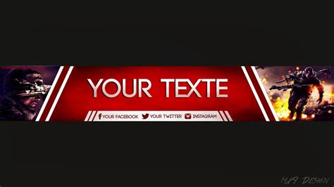 youtube banner template by kolourfx 2 youtube top 5 free youtube banner templates 5 tane youtube