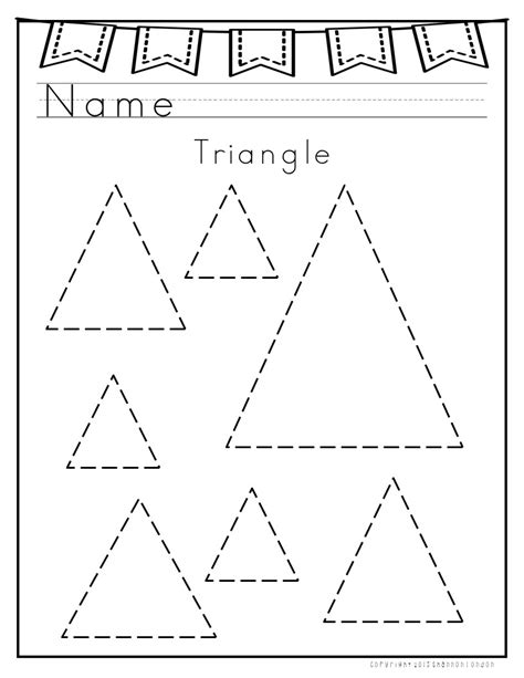 triangle printable worksheets for preschoolers i use these worksheets with my preschoolers to practice