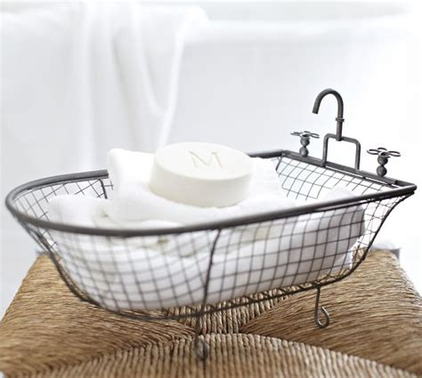 Bathroom Basket Accessories Pottery Barn Mesh Catchall Look 4 Less