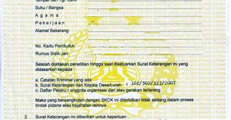 syarat untuk membuat paspor baru syarat membuat skck baru untuk melamar pekerjaan hal lima