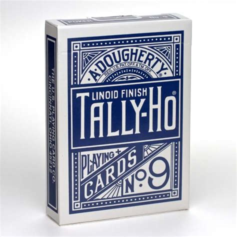 Sale Tally Ho Liniod Finish No 9 Black Card Import America bicycle tally ho fan back cards deck standard index linoid finish blue ebay