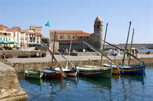 photo port du collioure bateaux catalans collioure