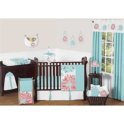 Sweet Jojo Crib Bedding Sweet Jojo Designs Crib Bedding Collection In White Turquoise Bed Bath Beyond