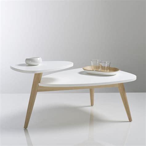 table basse vintage plateau jimi blanc la redoute