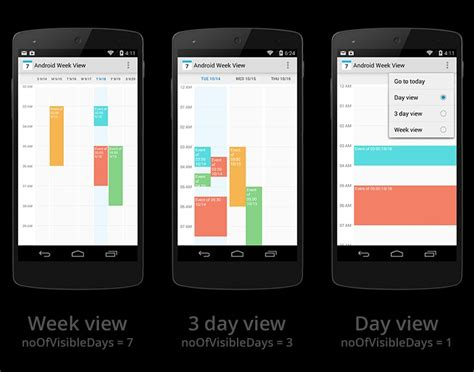 android layout event android create a layout for calendar event with freeze