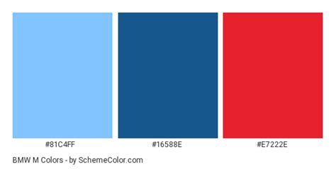 bmw m colors bmw m color scheme 187 blue 187 schemecolor