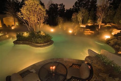 Outdoor Water Features With Lights 40 Ultimate Garden Lighting Ideas