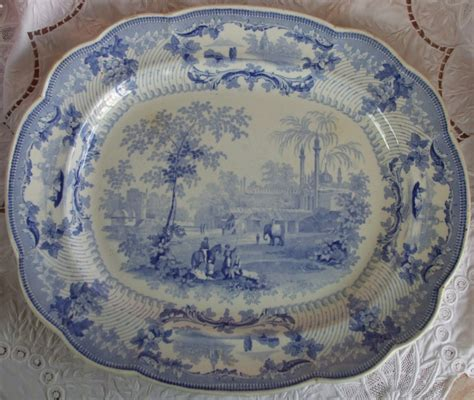 pattern definition ceramics antique english georgian blue and white transfer quot delhi
